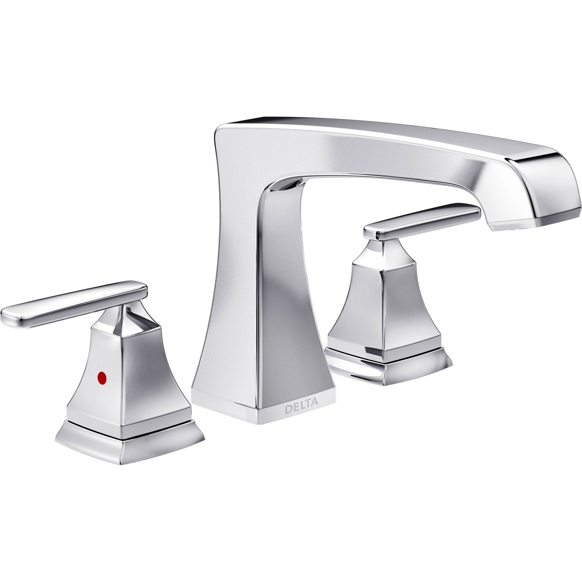 Delta Ashlyn Modern Chrome Finish Roman Tub Filler Faucet INCLUDES Valve and Lever Handles D1094V
