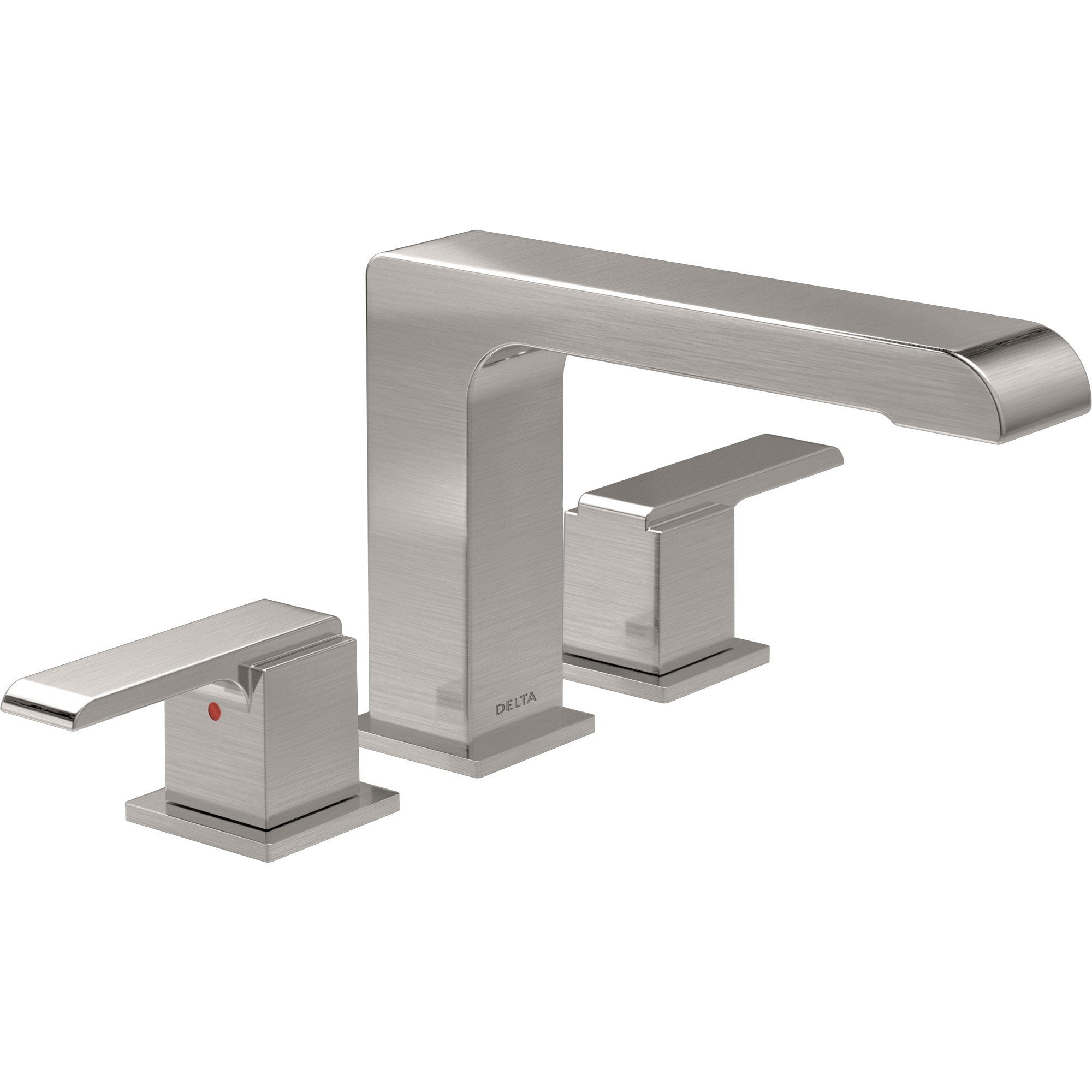 Delta Ara Modern Stainless Steel Finish Roman Tub Filler Faucet INCLUDES Valve and Lever Handles D1090V