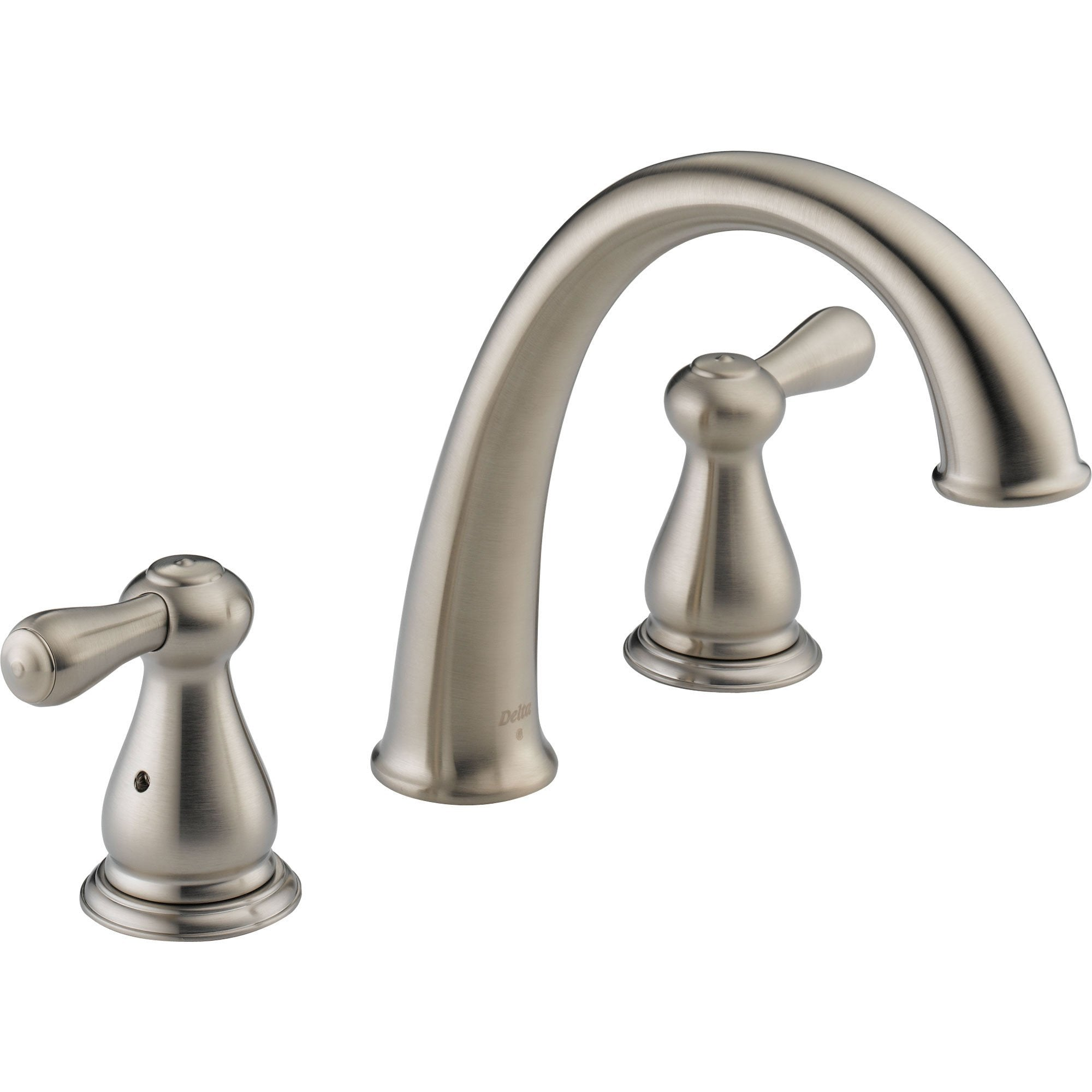 Delta Leland Widespread Stainless Steel Finish Roman Tub Faucet Trim Kit 467087