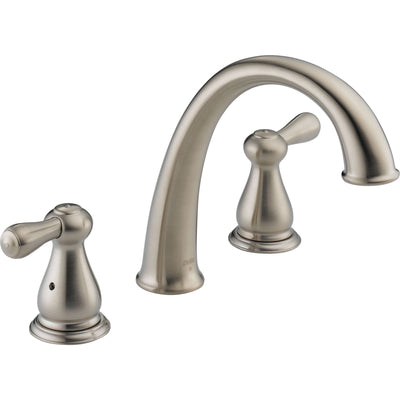Delta Leland Widespread Stainless Steel Finish Roman Tub Faucet with Valve D916V