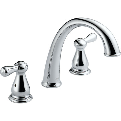 Delta Leland 2-Handle Widespread Chrome Roman Tub Faucet with Valve D914V