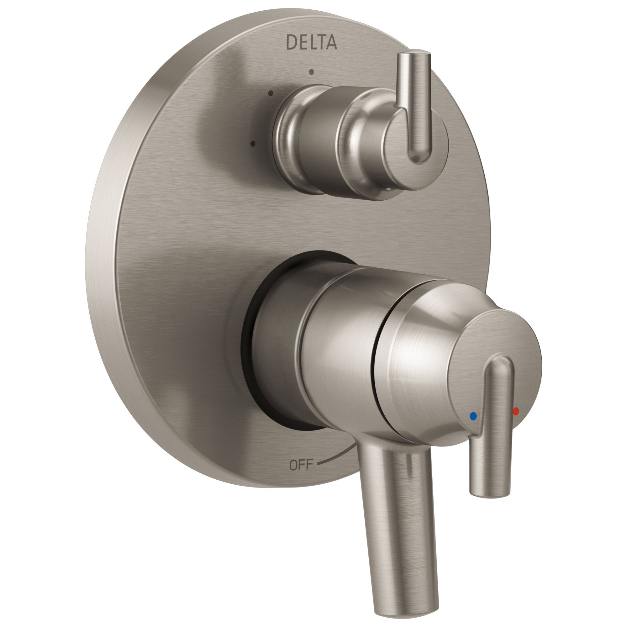 Delta Trinsic Stainless Steel Finish Shower Faucet Control Handle with 3-Setting Integrated Diverter Includes Trim Kit and Rough-in Valve with Stops D2176V