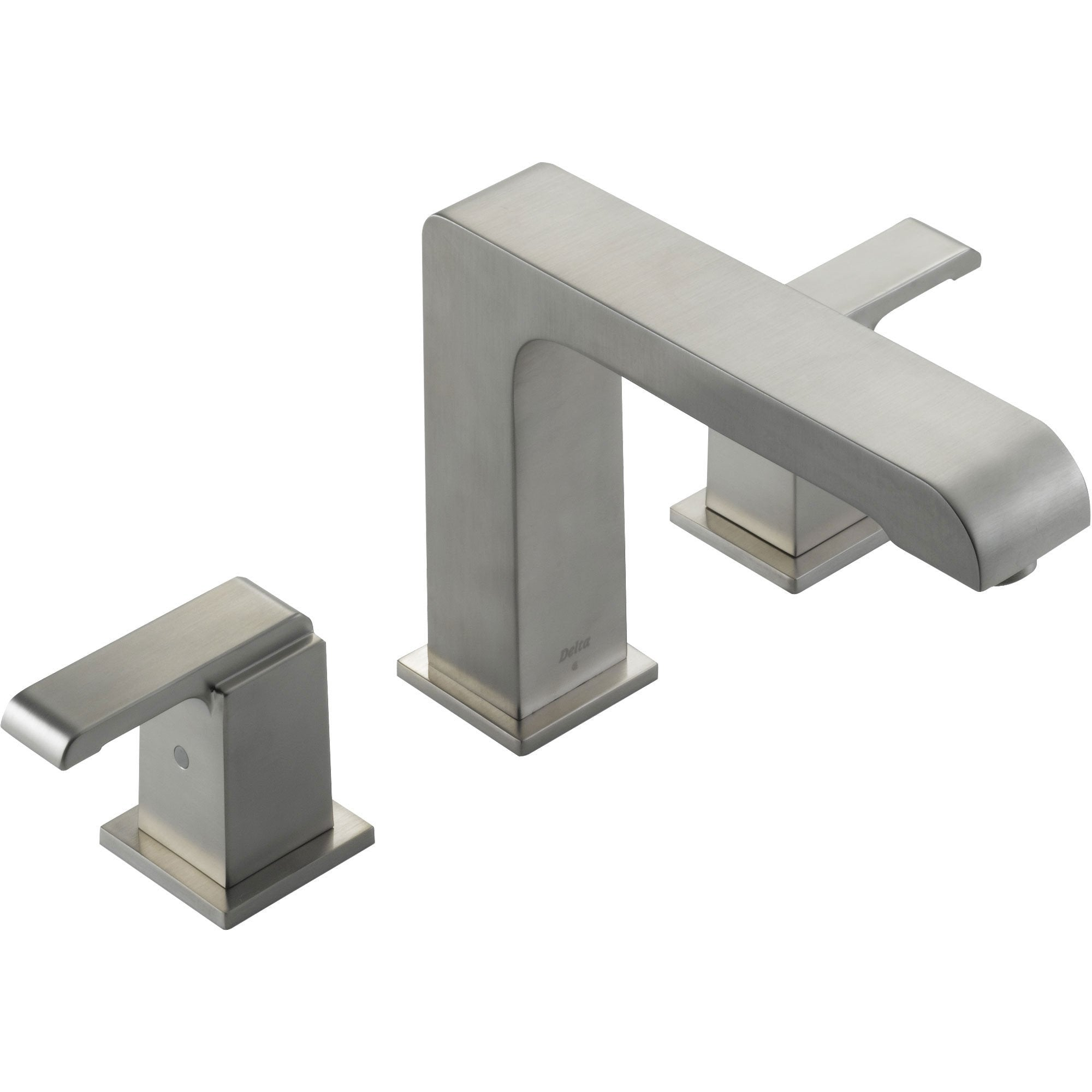 Delta Arzo Modern Stainless Steel Finish Roman Tub Faucet with Valve D918V