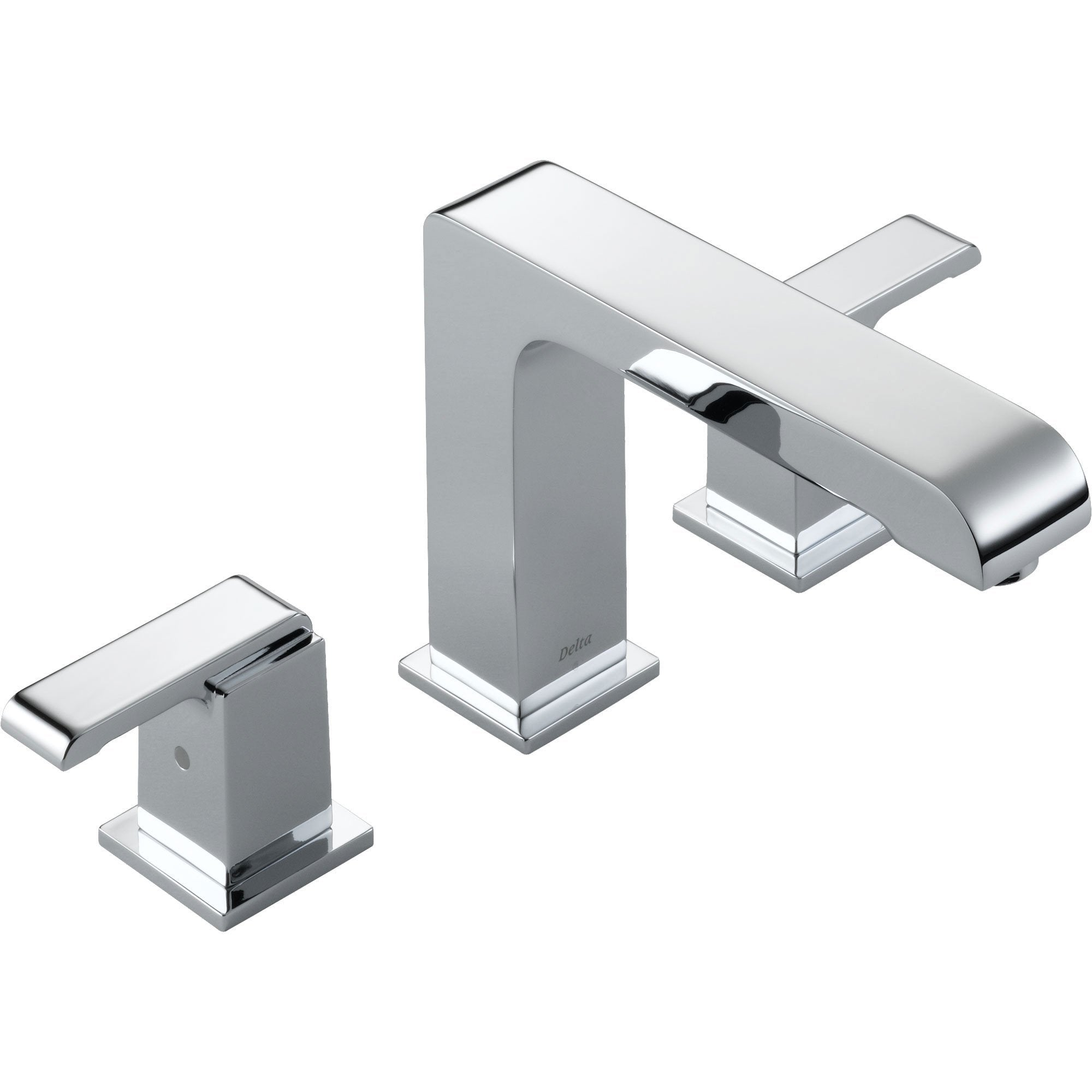Delta Arzo Modern Square Widespread Chrome Roman Tub Filler Faucet Trim 352501