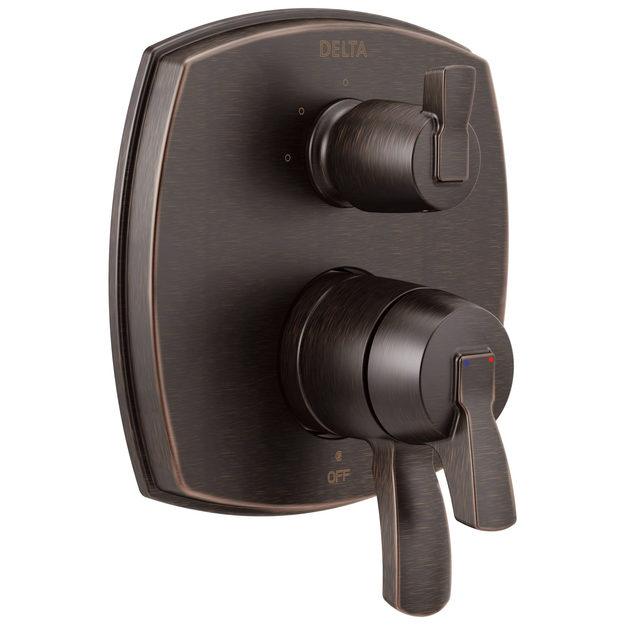 Delta Stryke Venetian Bronze Finish 17 Series Integrated 3-Function Lever Handle Diverter Shower System Control Includes Valve and Handles D3142V