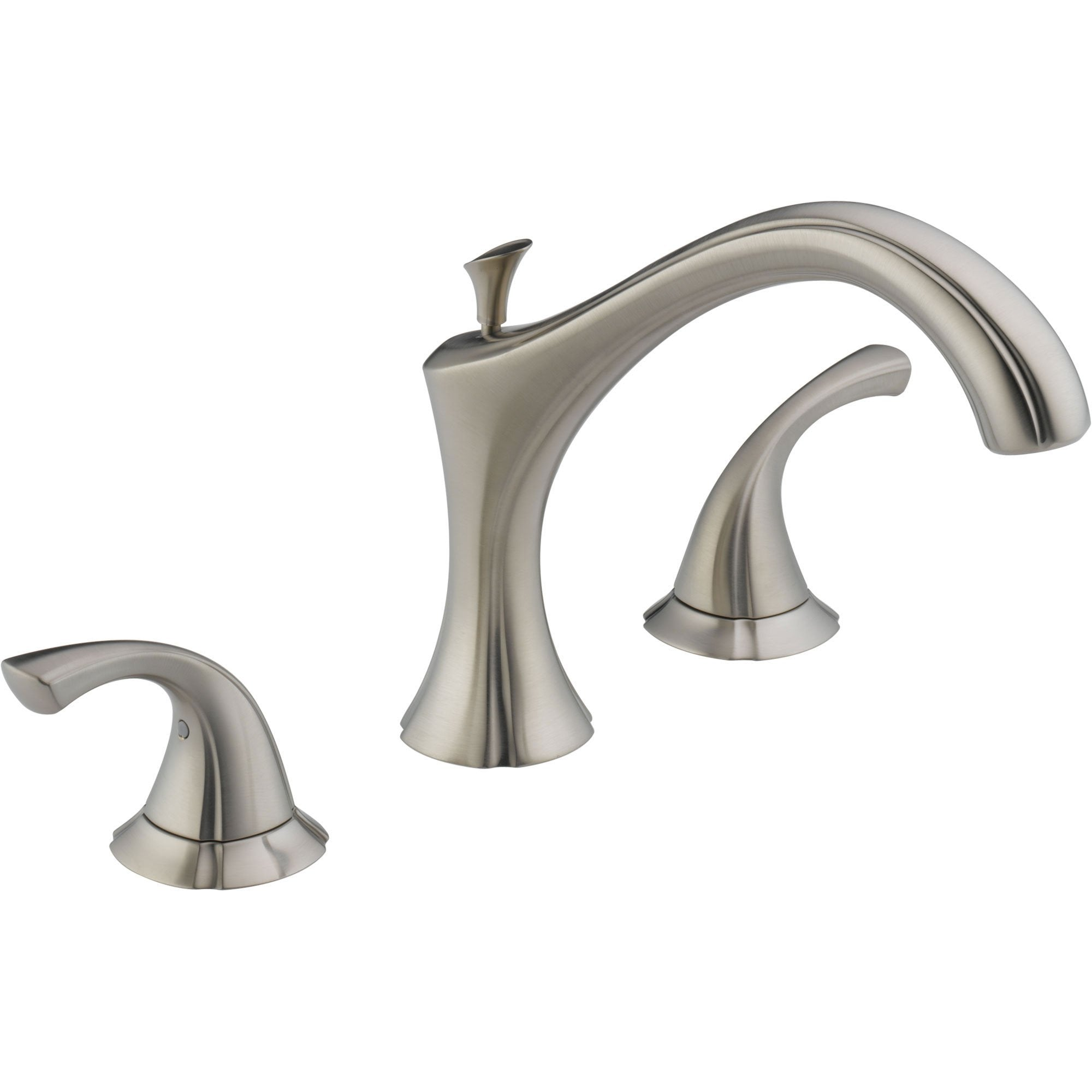 Delta Addison Widespread Stainless Steel Finish Roman Tub Faucet w/ Valve D922V