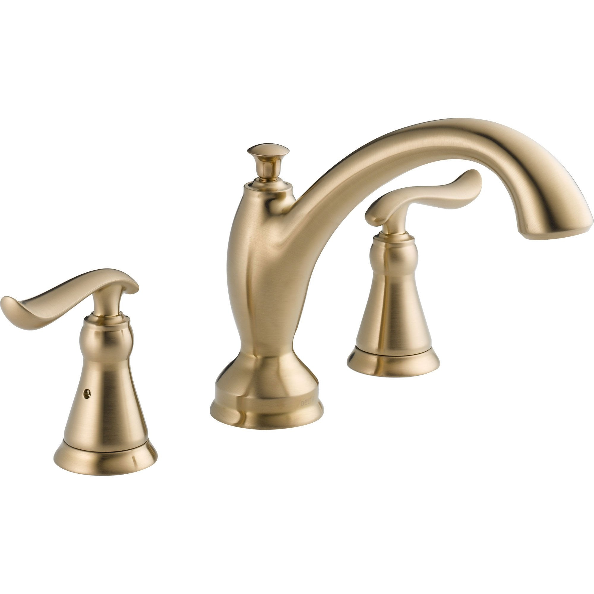 Delta Linden Champagne Bronze Deck Mount Roman Tub Filler Faucet Trim Kit 555623