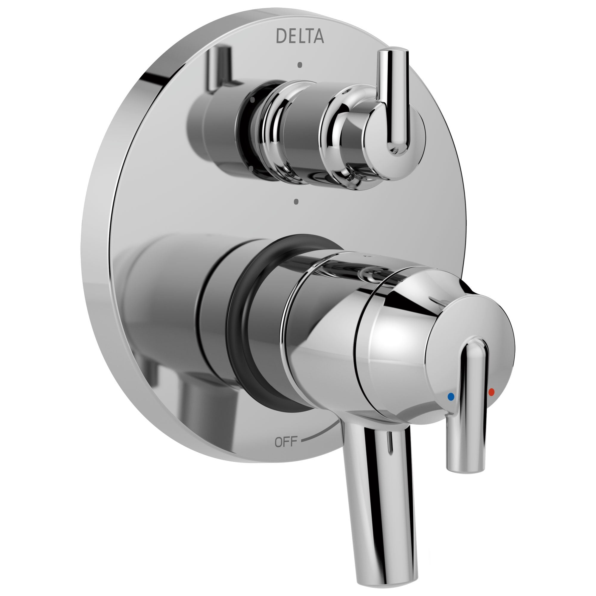 Delta Trinsic Chrome Contemporary Monitor 17 Shower Faucet Control Handle with 6-Setting Integrated Diverter Includes Trim Kit and Valve without Stops D2158V