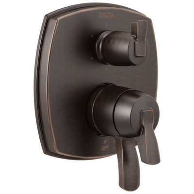 Delta Stryke Venetian Bronze Finish 6 Function Lever Handle Integrated Diverter 17 Series Shower System Control Includes Valve and Handles D3704V