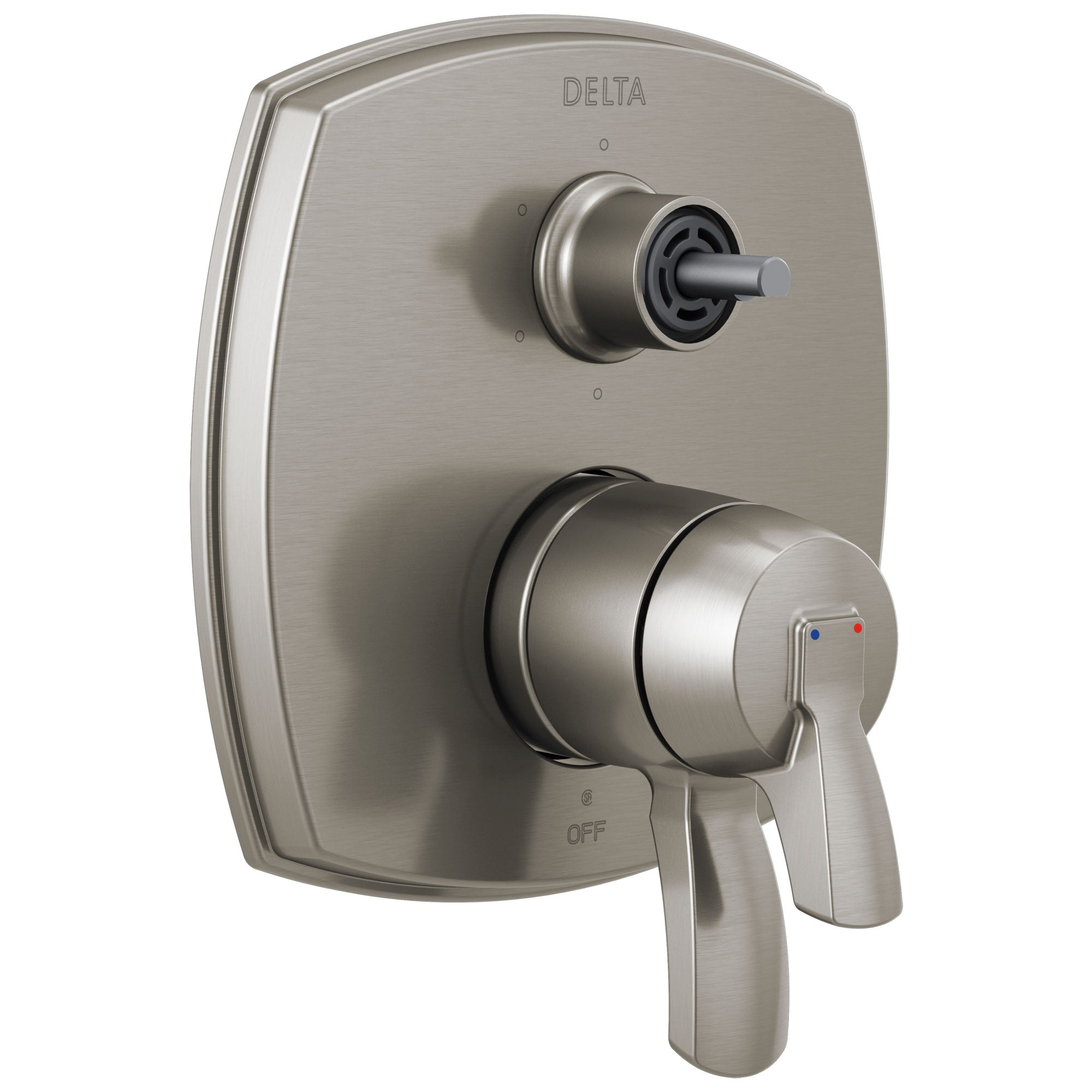 Delta Stryke Stainless Steel Finish 17 Series Integrated Diverter Shower Control Trim Kit with Six Function Diverter Less Diverter Handle (Requires Valve) DT27976SSLHP