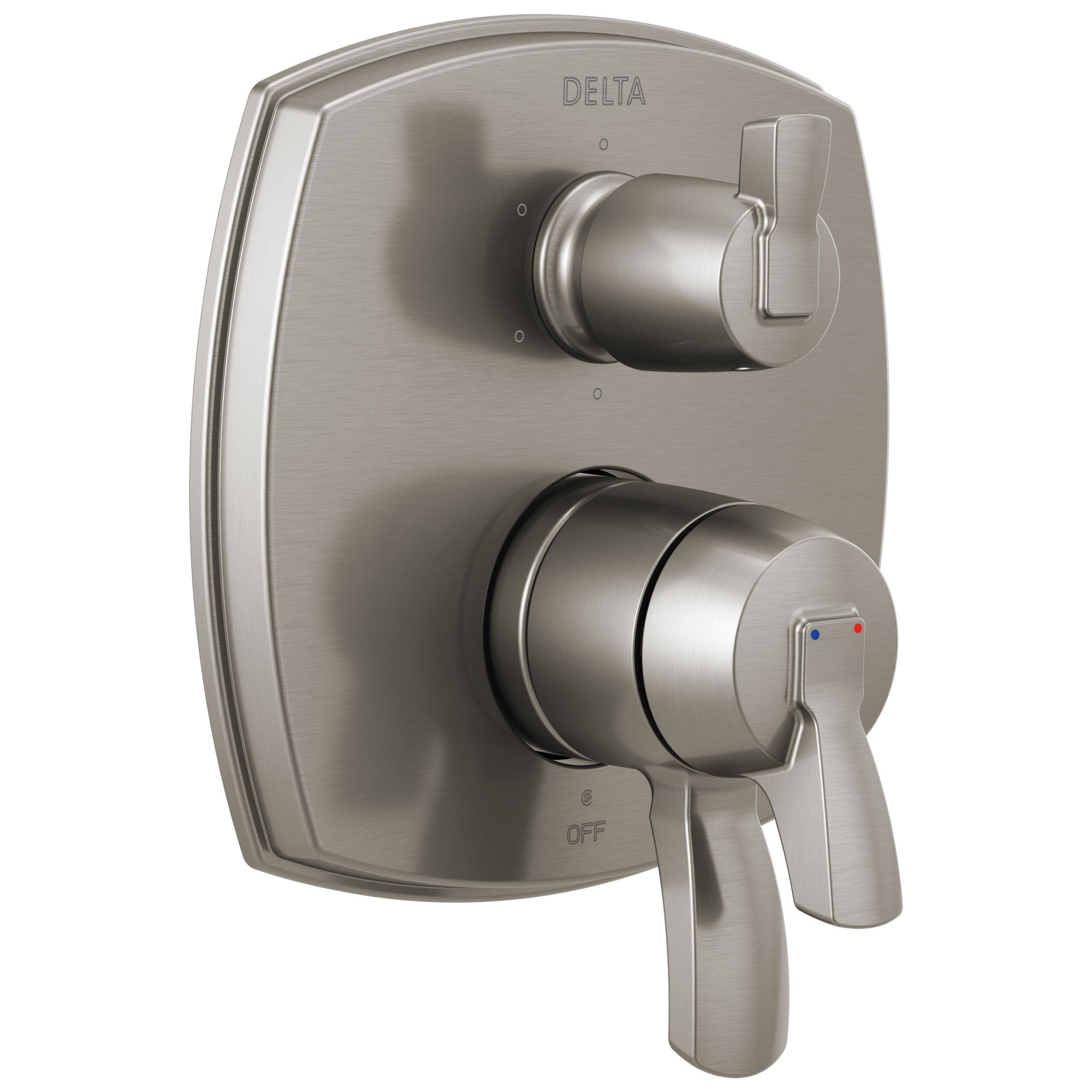 Delta Stryke Stainless Steel Finish 6 Function Lever Handle Integrated Diverter 17 Series Shower System Control Includes Valve and Handles D3702V