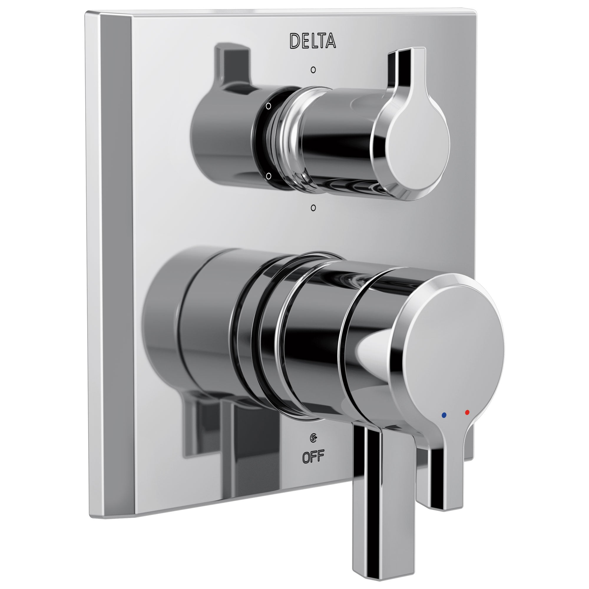 Delta Pivotal Chrome Finish Monitor 17 Series Shower System Control with 6-Setting Diverter Includes Rough-in Valve and Handles D3115V