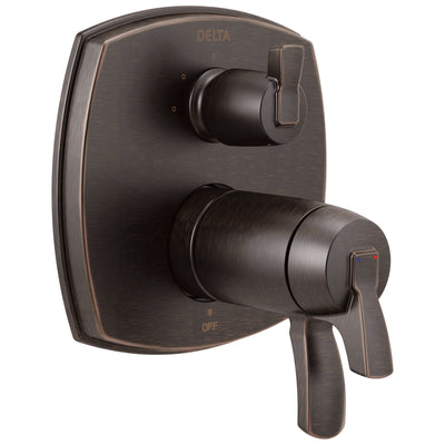 Delta Stryke Venetian Bronze Finish 3-setting Integrated Lever Handle Diverter Thermostatic Shower System Control Includes Valve and Handles D3096V