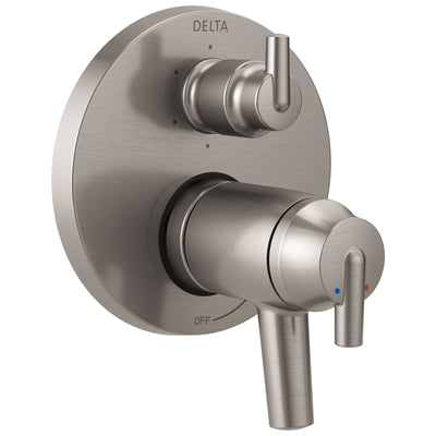 Delta Trinsic Stainless Steel Finish Thermostatic Shower Faucet Control with 6-Setting Integrated Diverter Includes Trim Kit and Valve with Stops D2119V