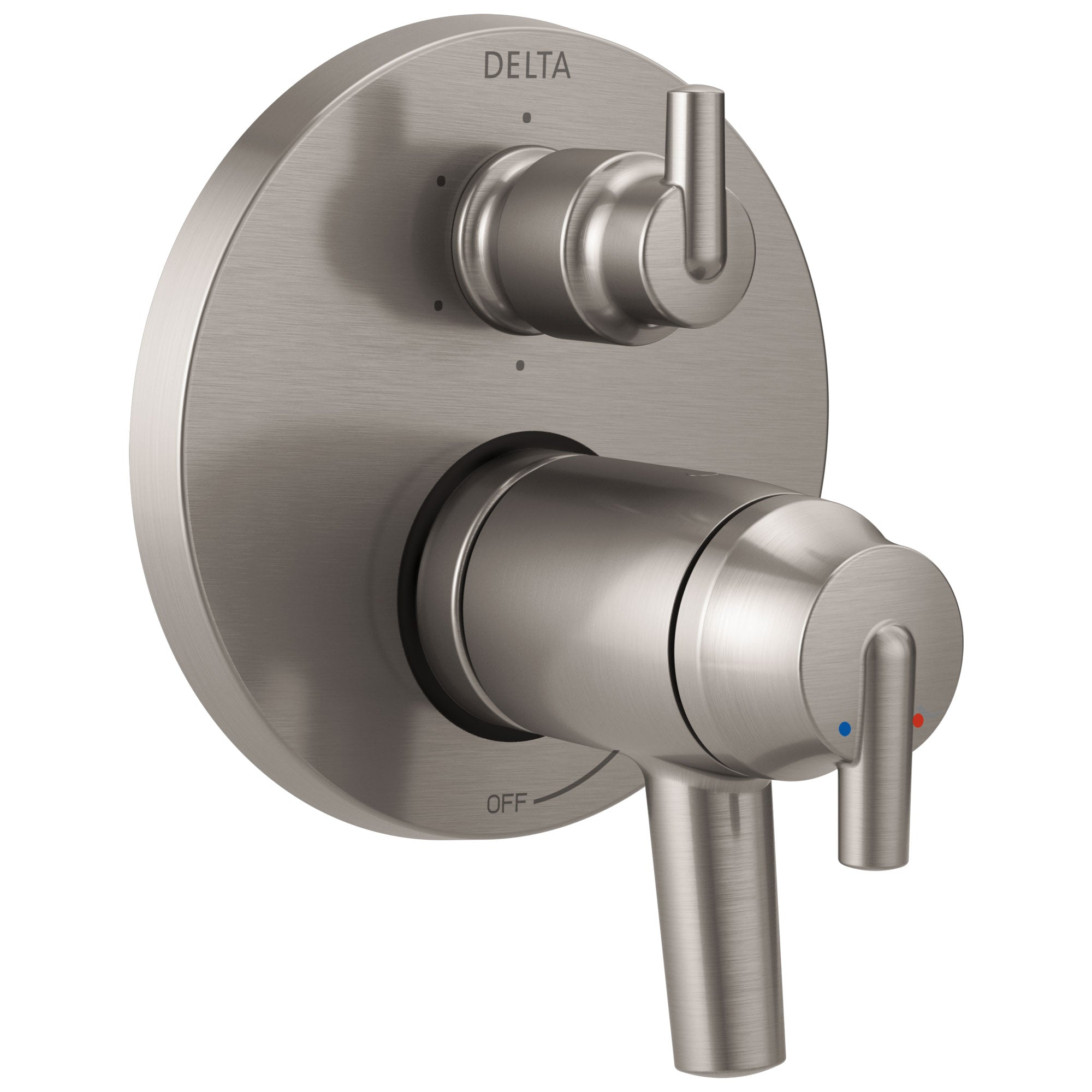 Delta Trinsic Collection Stainless Steel Finish Thermostatic Shower Faucet Control with 6-Setting Integrated Diverter Trim (Requires Valve) DT27T959SS