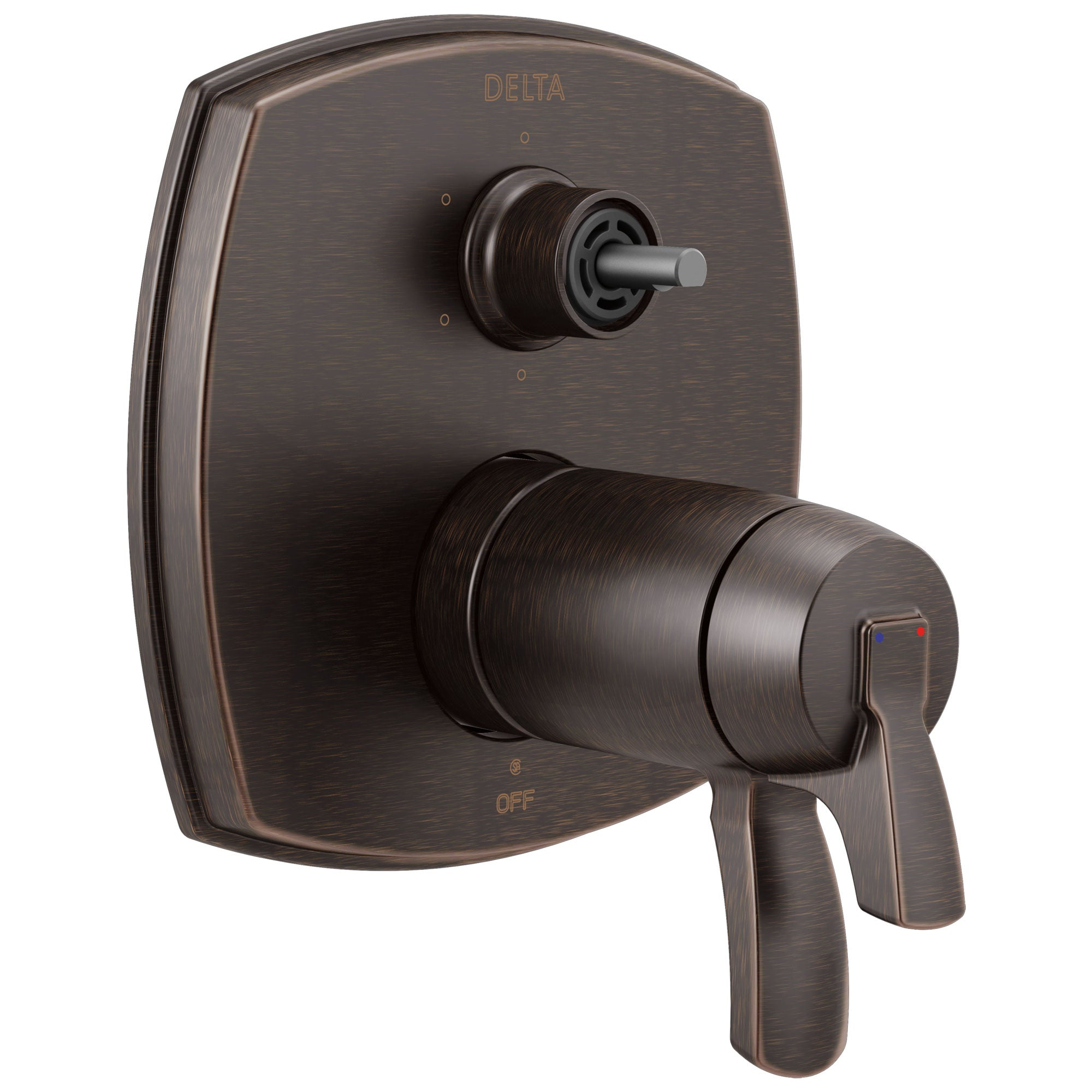Delta Stryke Venetian Bronze Finish 17 Thermostatic Integrated Diverter Shower Control Trim with Six Function Diverter Less Diverter Handle (Requires Valve) DT27T976RBLHP