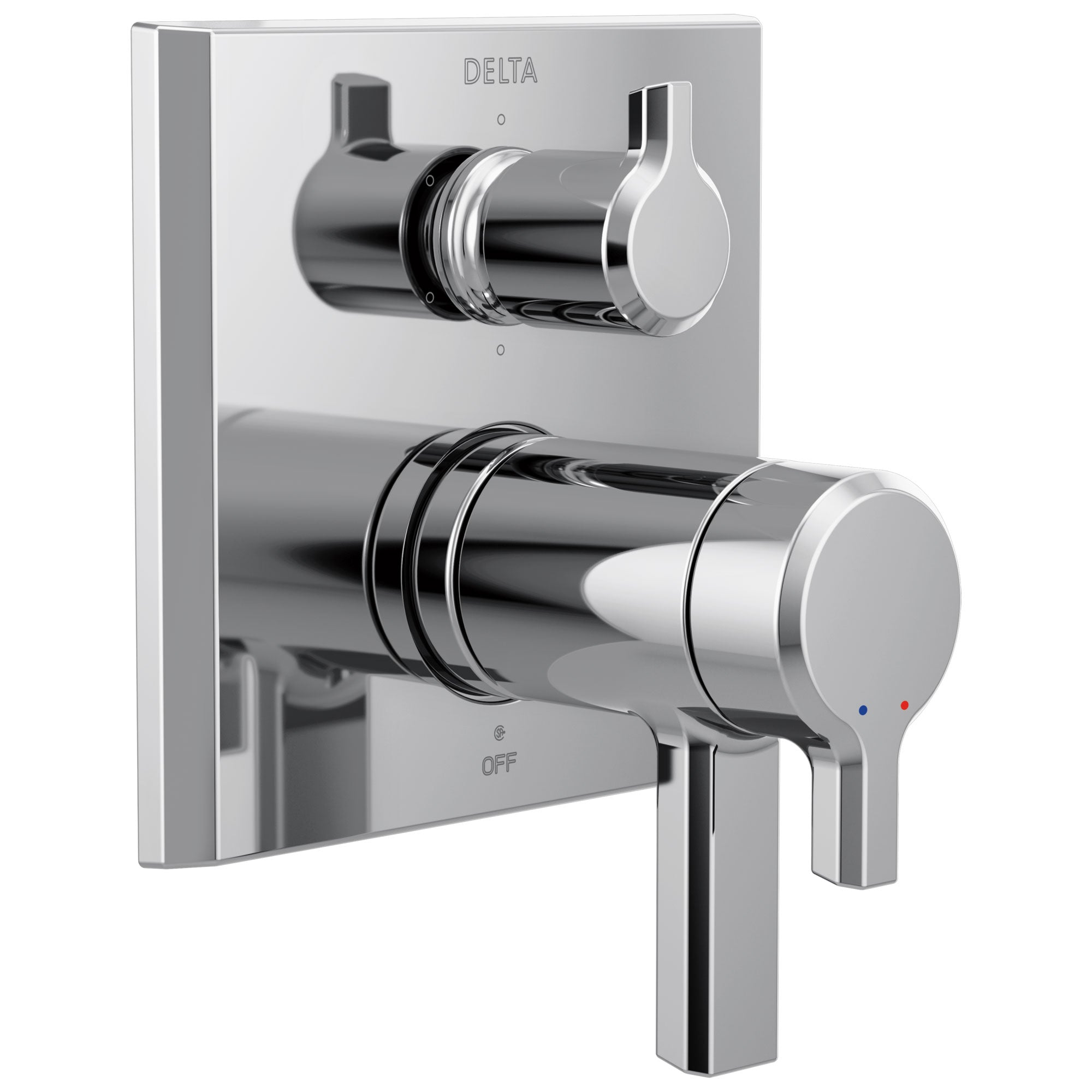 Delta Pivotal Chrome Finish TempAssure 17T Series Shower Control Trim with 6-Setting Integrated Diverter (Requires Valve) DT27T999