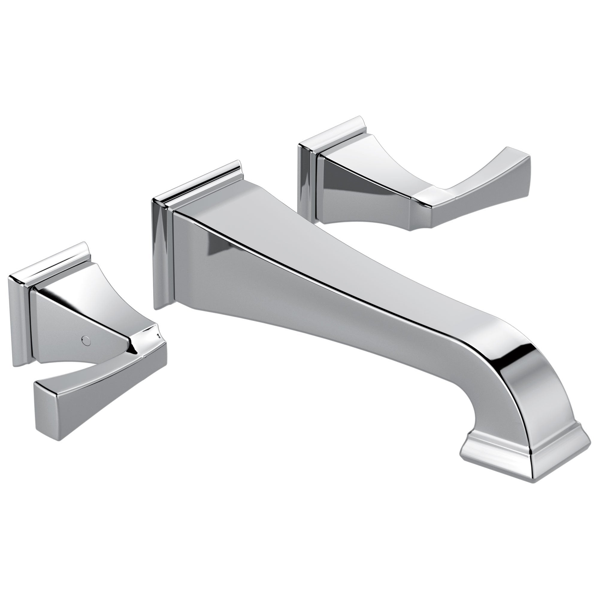 Delta Dryden Collection Chrome Finish Two Handle Wall Mounted Bathroom Sink Lavatory Faucet Trim Kit (Requires Rough-in Valve) DT3551LFWL