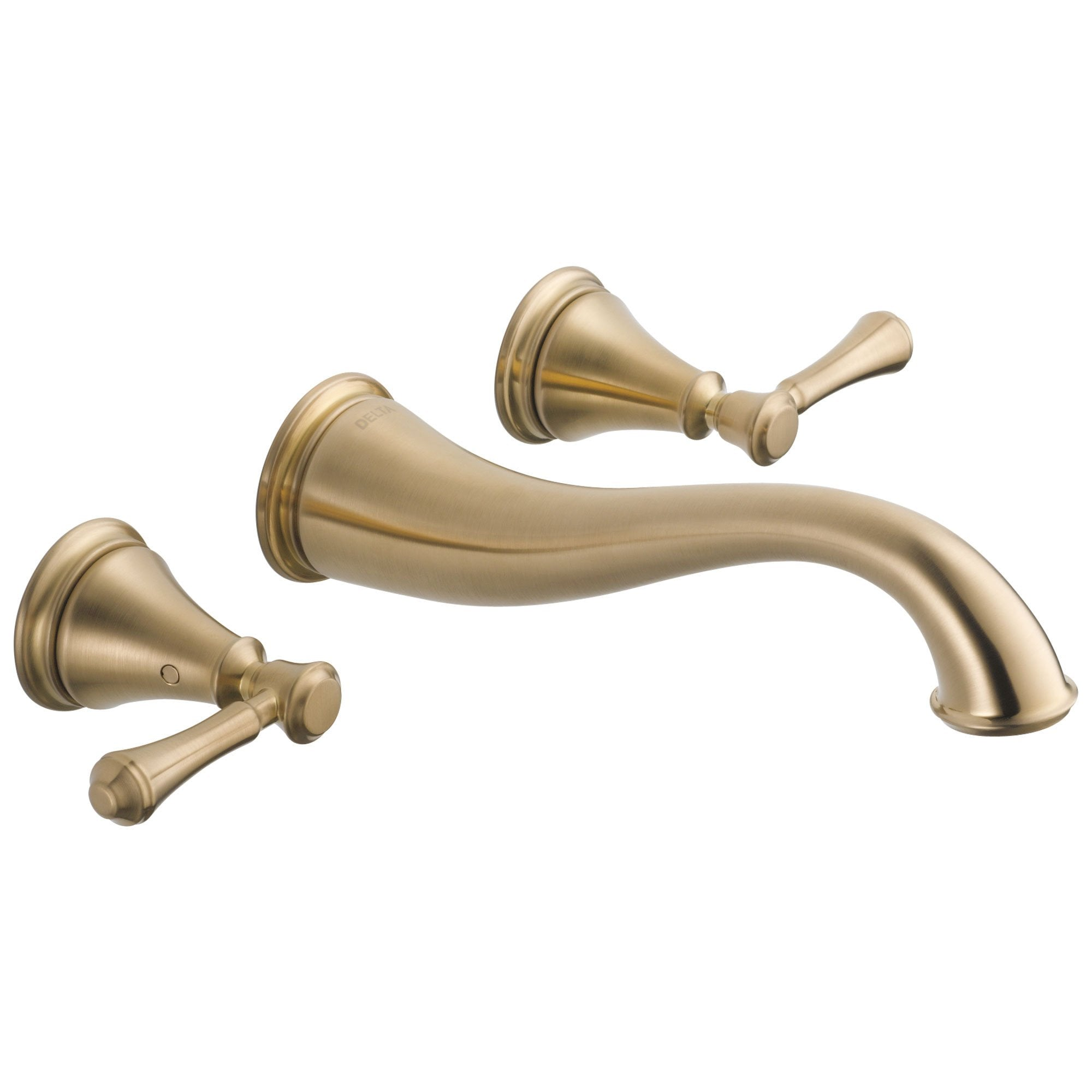 Delta Cassidy Collection Champagne Bronze Traditional Style Two Handle Wall Mount Bathroom Sink Faucet Trim Kit (Requires Rough-in Valve) DT3597LFCZWL
