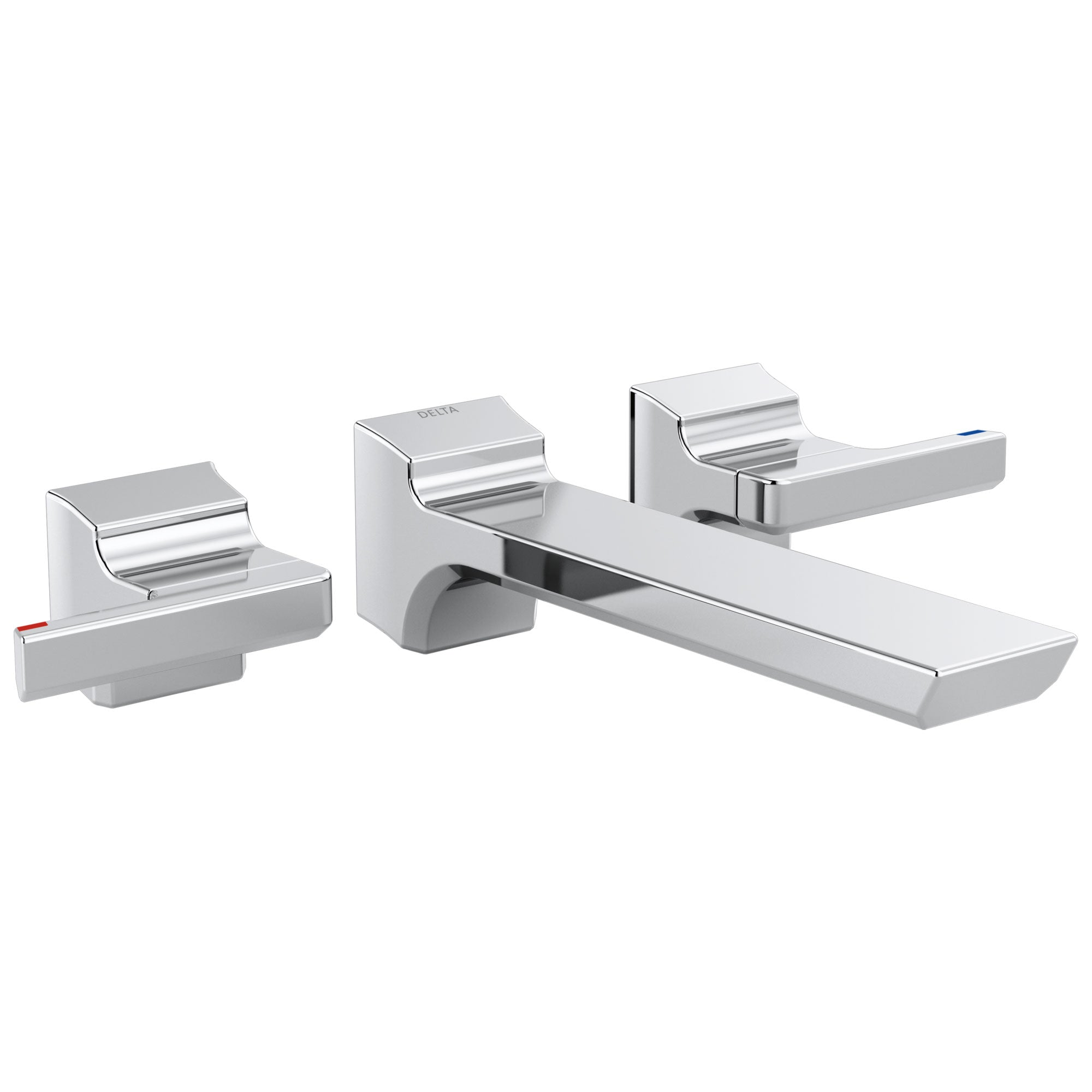 Delta Pivotal Chrome Finish Two-Handle Wall Mount Bathroom Faucet Trim Kit (Requires Valve) DT3599LFWL