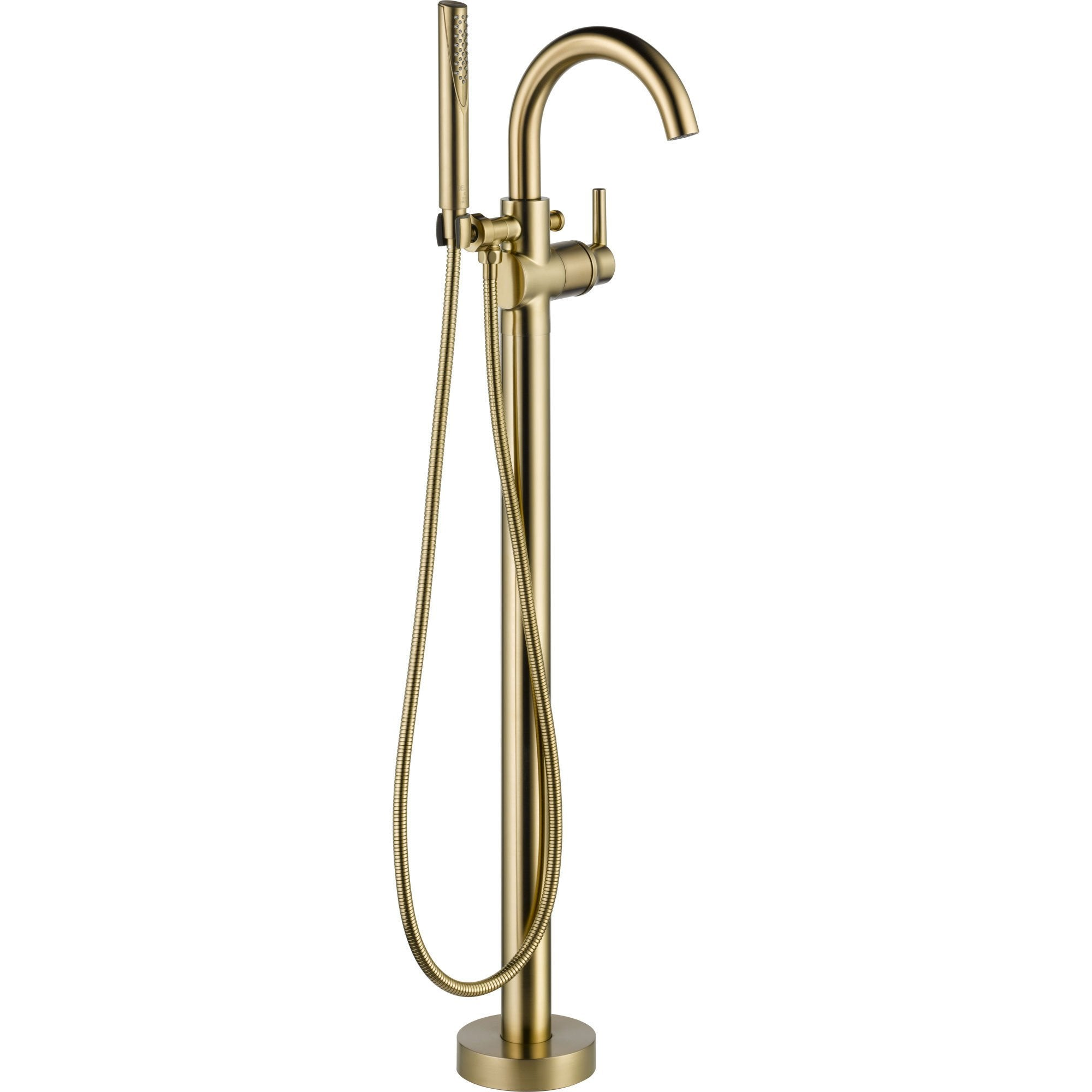 Delta Trinsic Champagne Bronze Floor Mount Freestanding Tub Filler Trim 637071