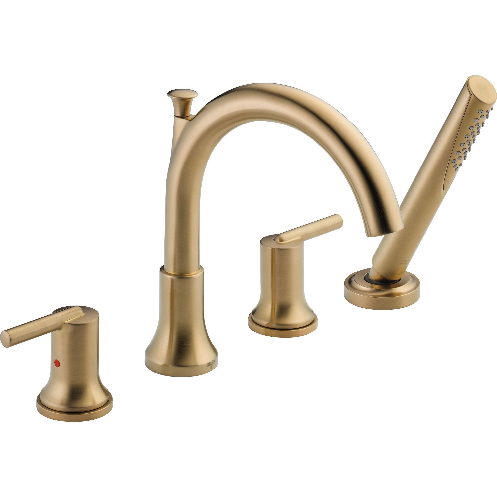 Delta Trinsic Champagne Bronze Roman Tub Faucet with Handshower Trim Kit 590144