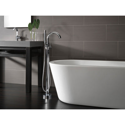 Delta Trinsic Chrome Floor Mount Freestanding Tub Filler