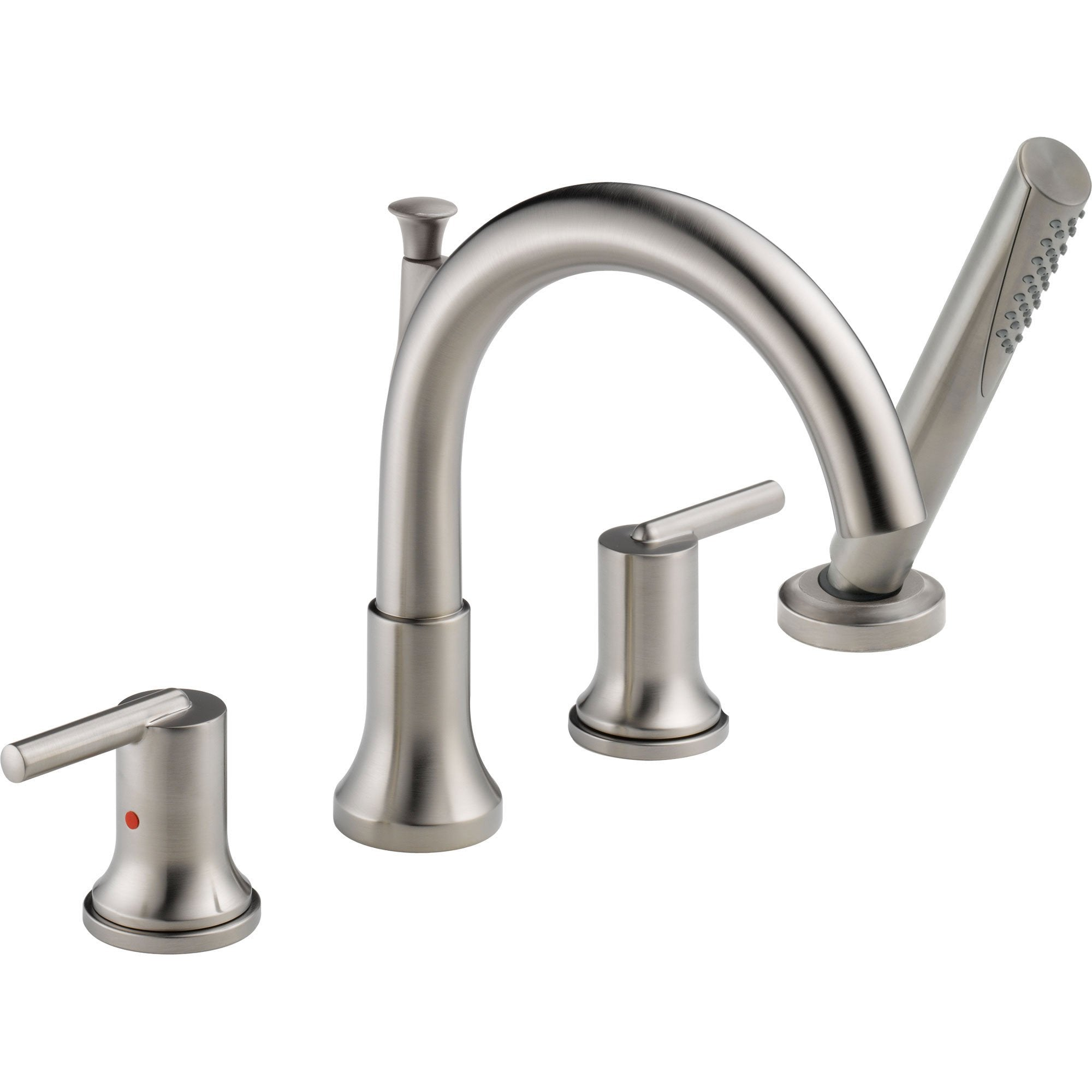 Delta Trinsic Stainless Steel Finish Tub Faucet with Valve and Hand Shower D874V