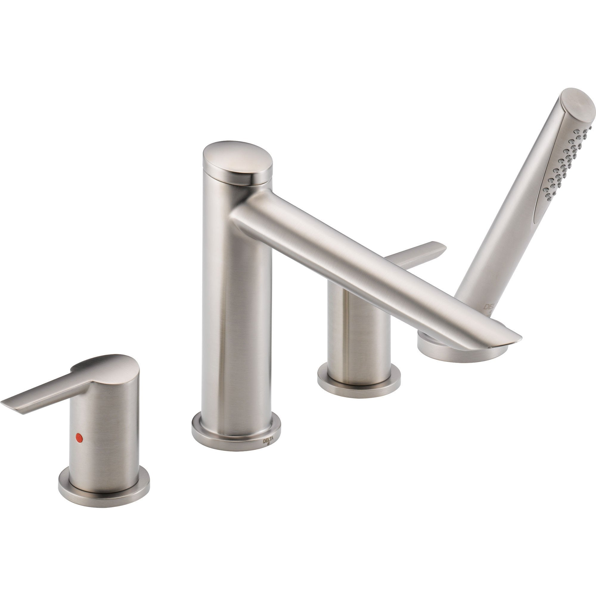 Delta Compel Stainless Steel Finish Roman Tub Faucet with Handshower Trim 584060