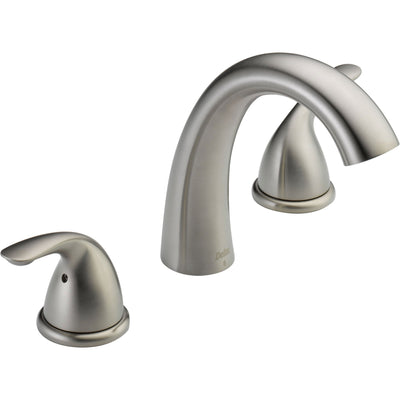 Delta Classic Stainless Steel Finish Roman Tub Filler Faucet with Valve D928V