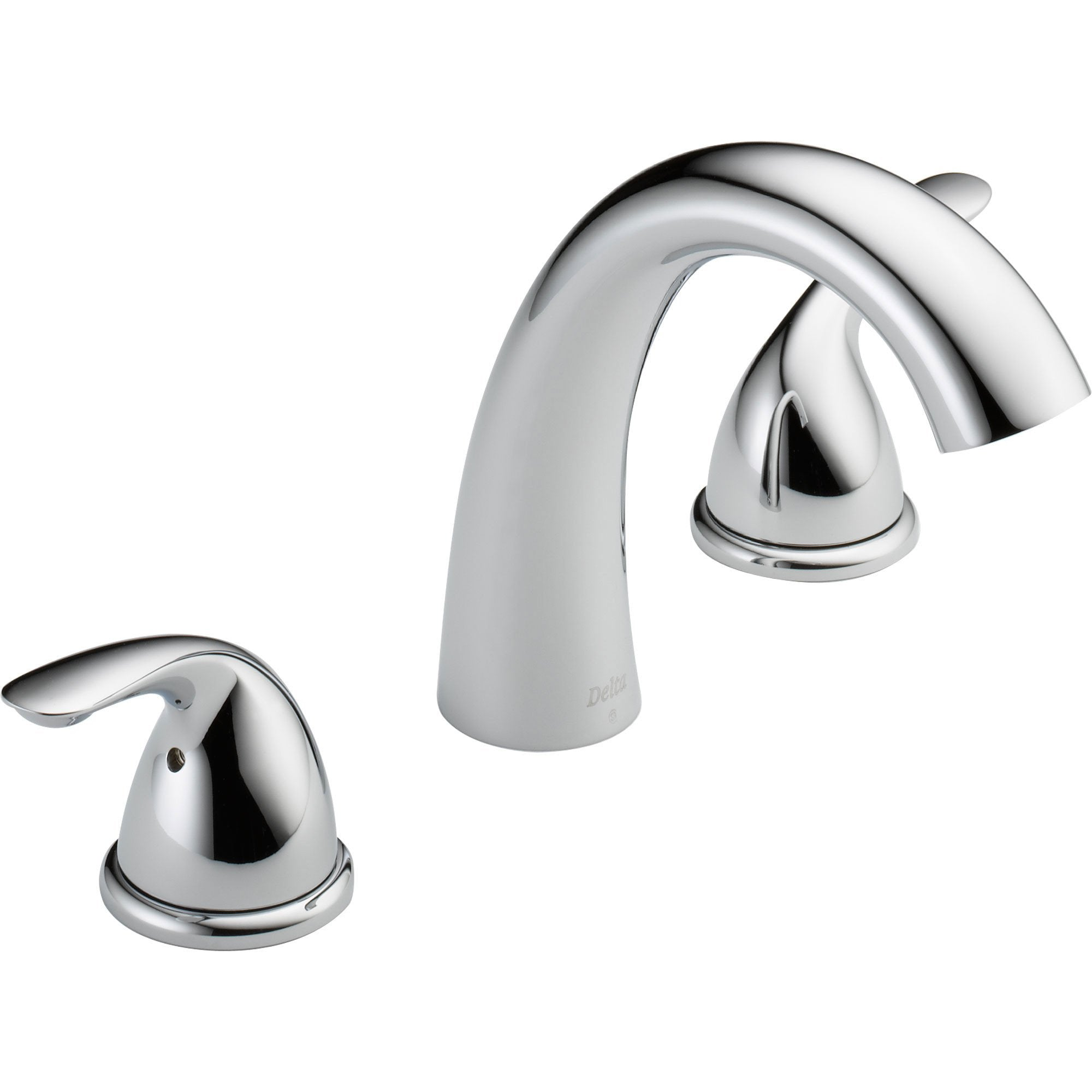 Delta Classic 2-Handle Deck Mount Roman Tub Faucet Trim Only in Chrome 550143