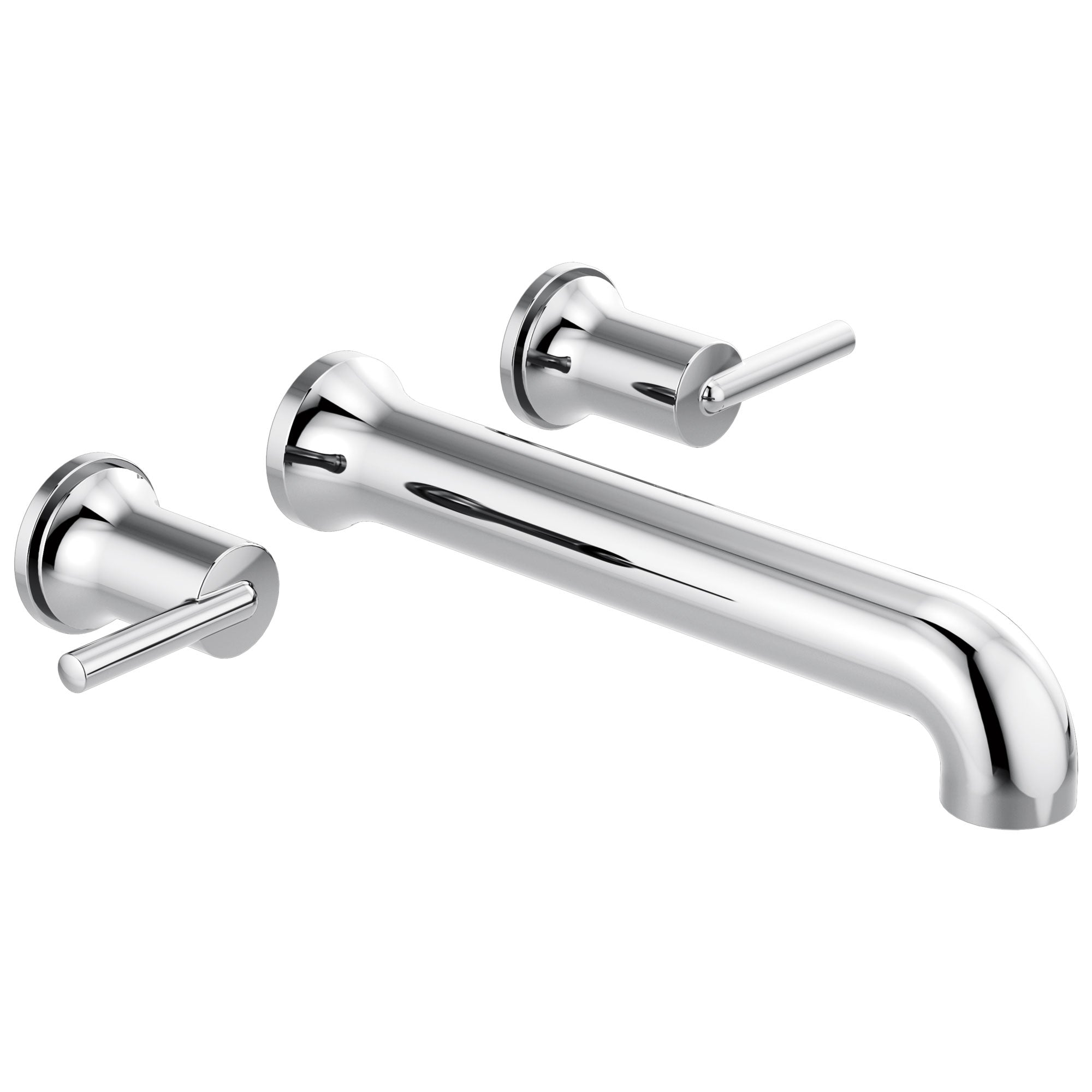 Delta Trinsic Modern Chrome Finish Wall Mounted Tub Filler Faucet Trim Kit (Requires Valve) DT5759WL