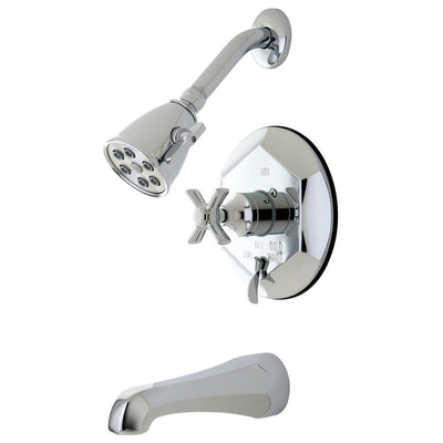 Kingston Brass VB46310ZX Tub and Shower Combination Faucet Polished Chrome
