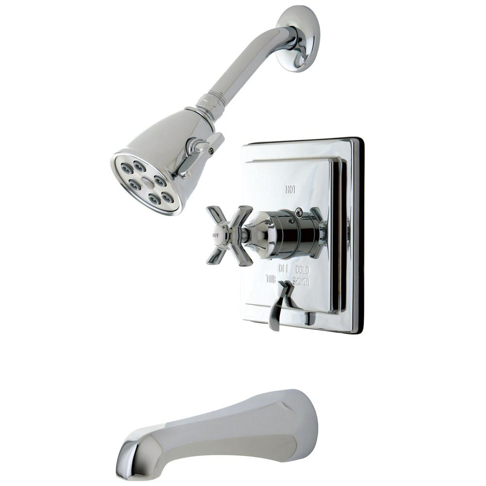 Kingston Brass VB86510ZX Tub and Shower Combination Faucet Polished Chrome