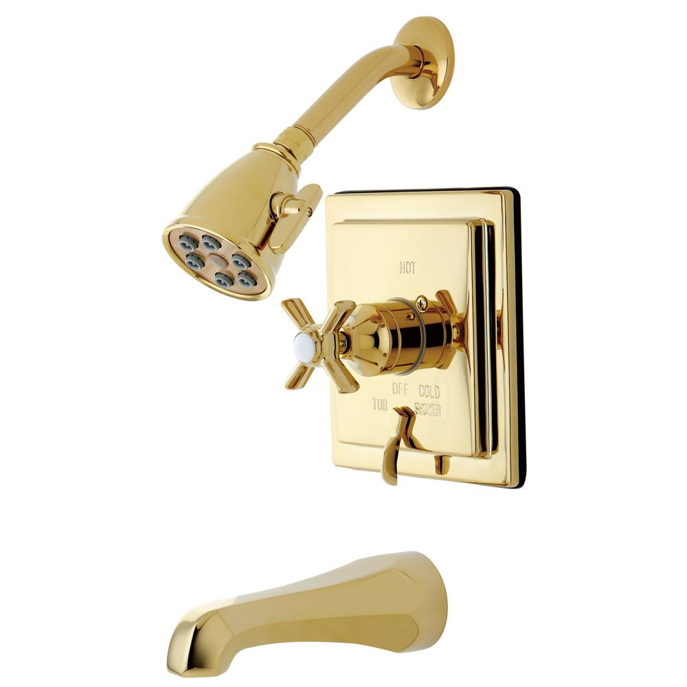 Kingston Brass VB86520ZX Tub and Shower Combination Faucet Polished Brass