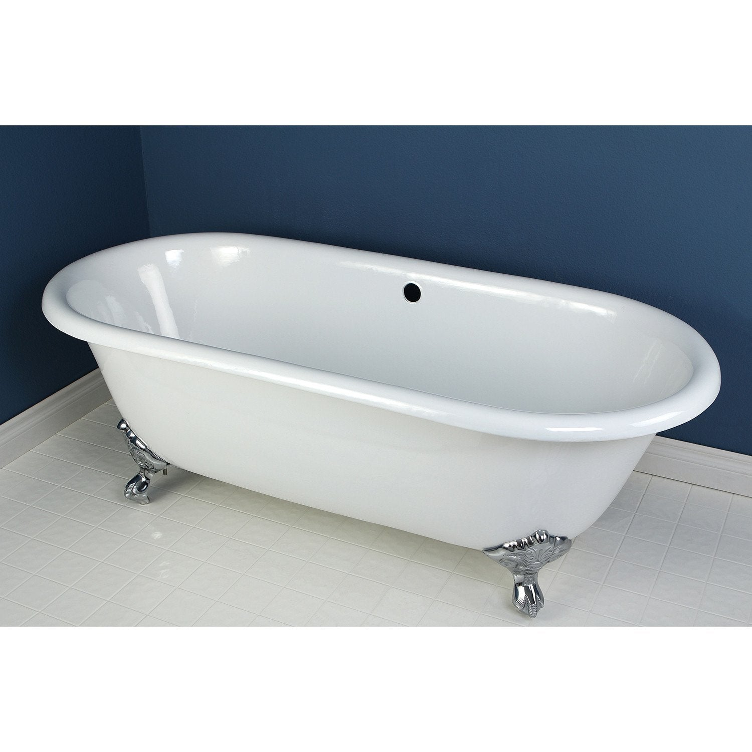 66 Quot Large Cast Iron White Clawfoot Freestanding Bath Tub