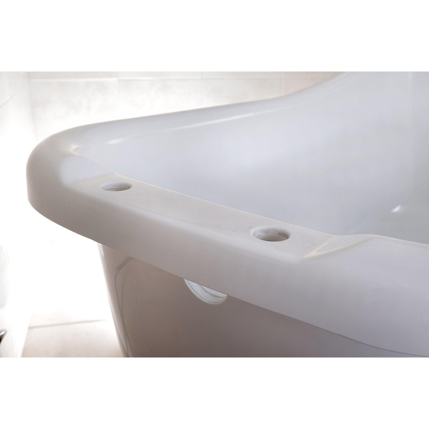 69 Quot Large White Slipper Acrylic Clawfoot Bath Tub With