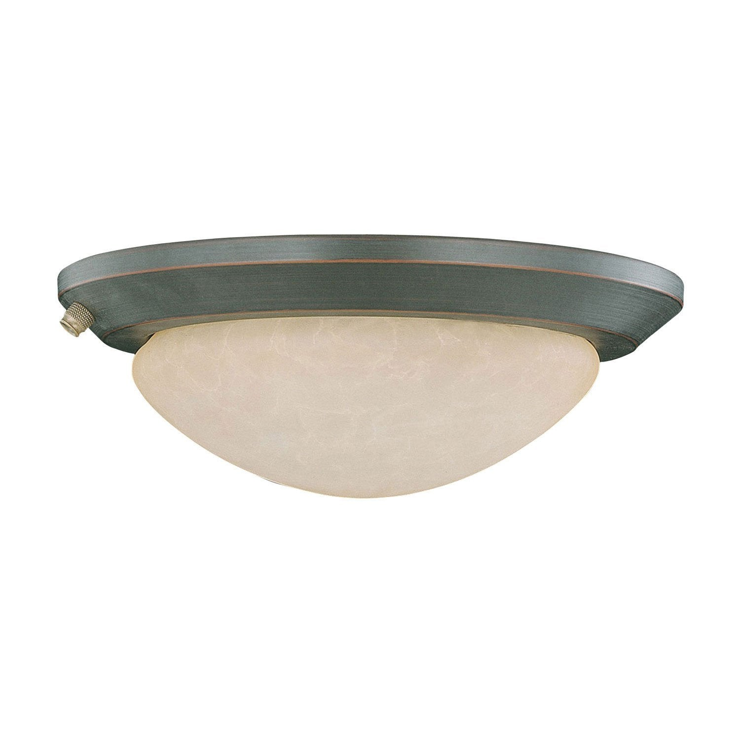 Concord Fans 2 Light Oil Rubbed Bronze Finish Low Profile Ceiling