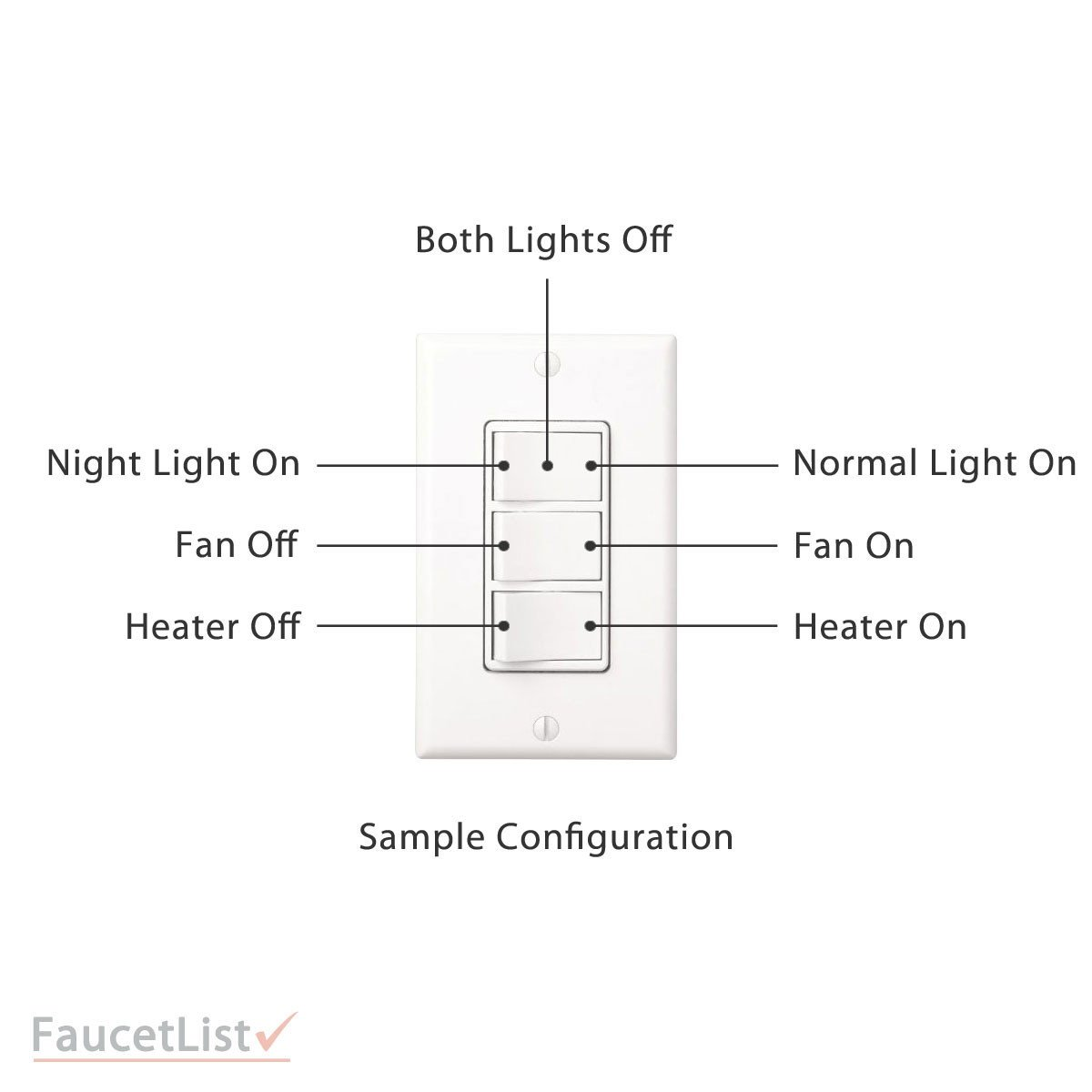 Nutone Qtxn110hflt High Power 110cfm Exhaust Ventilation Bathroom Ceiling Heater Wiring Diagram Fan With And Fluorescent Light Includes 3
