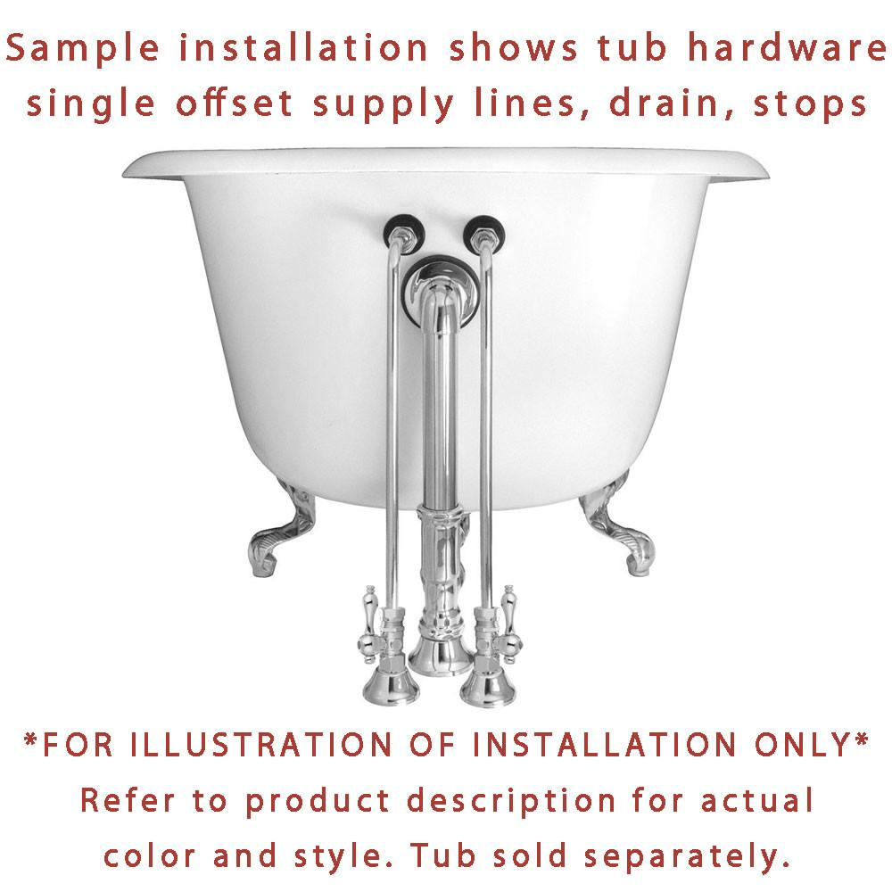 Clawfoot Tub Supply Lines.Chrome Clawfoot Tub Hardware Kit Drain Single Offset Supply Lines Cross Stops
