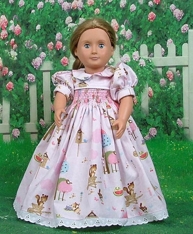 Doll hand smocked and embroidered dresses