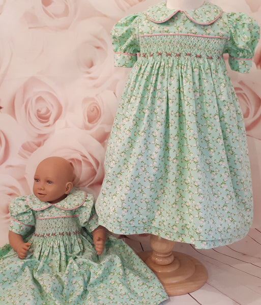 Baby girls smocked and embroidered dresses