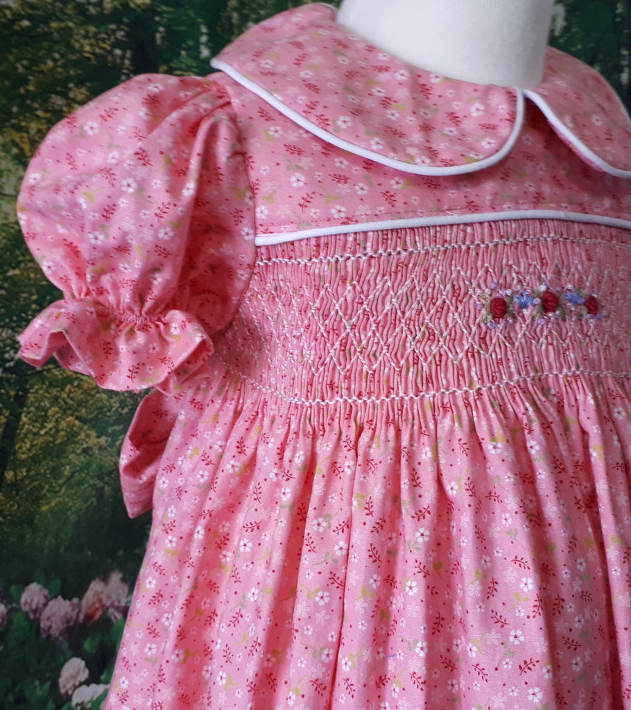 little girls smocked dress