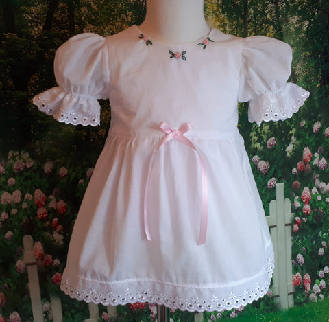 girls vintage style nighties with matching knickers