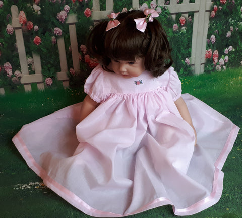 baby girls pink baby gown