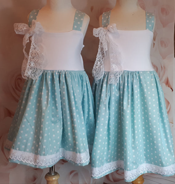 Girls cotton polkadot sundress