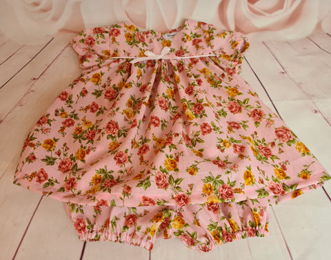 Baby girls dress with matching knickers
