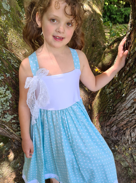 girls polkadot summer dress