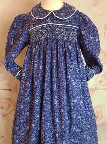 smocked winter dress