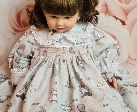 baby girls Easter smocked dress